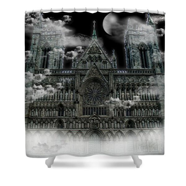 Cloudy Cathedral Shower Curtain
