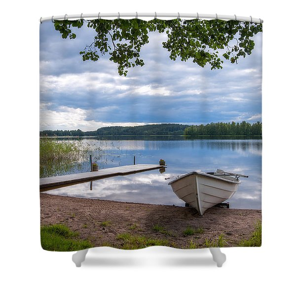 Cloudy Summer Day Shower Curtain