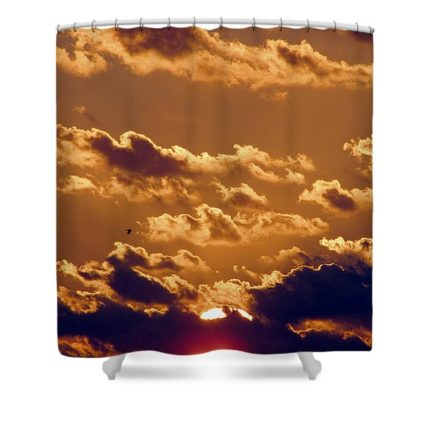 Key West Cloudy Sunset Shower Curtain