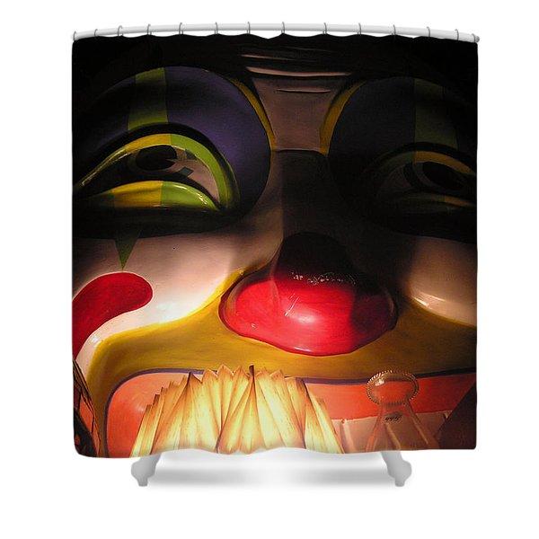 Clown In The Antique Shop Shower Curtain