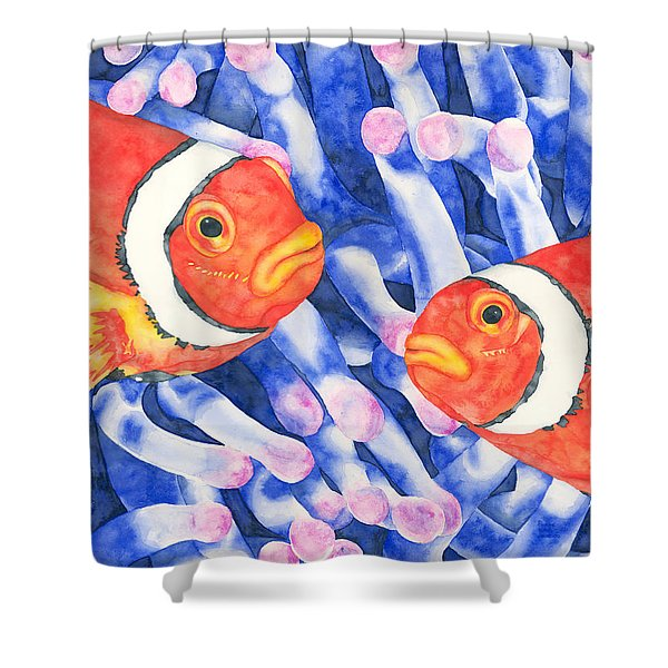 Clownfish Couple Shower Curtain