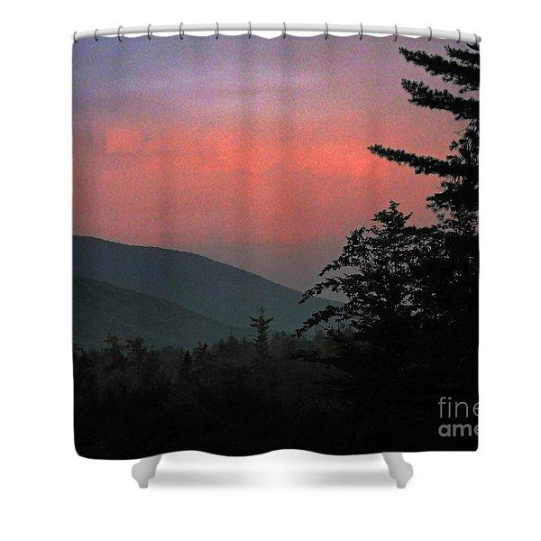 Clucks West Ossipee Mountain Sundown Shower Curtain