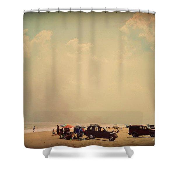 Clustered Beach Umbrellas Shower Curtain