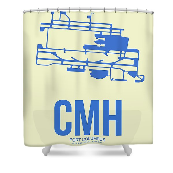 Cmh Columbus Airport Poster 2 Shower Curtain