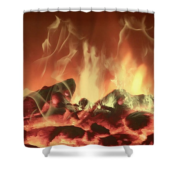 C'mon Baby Light My Fire Shower Curtain