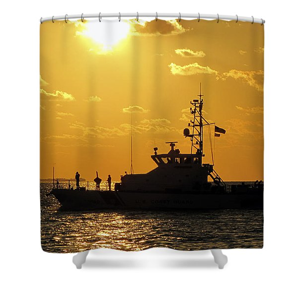 Coast Guard In Paradise - Key West Shower Curtain