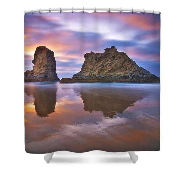 Coastal Cloud Dance Shower Curtain