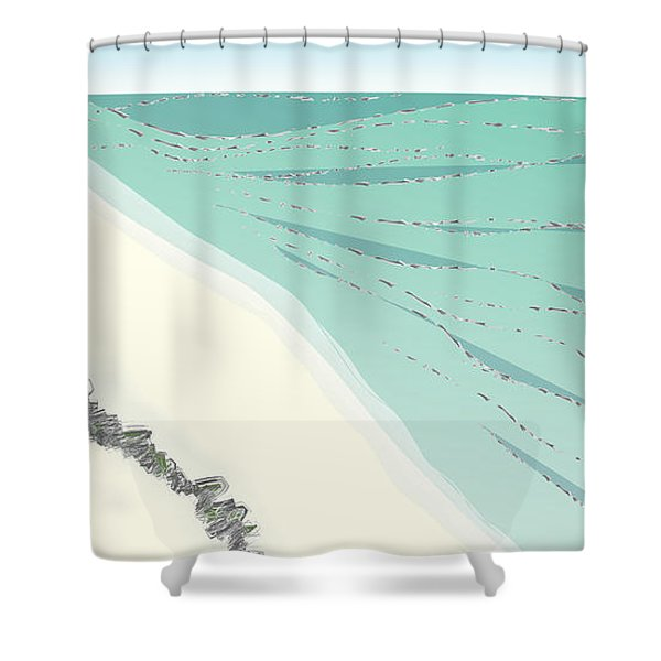 Coastal Wash Shower Curtain