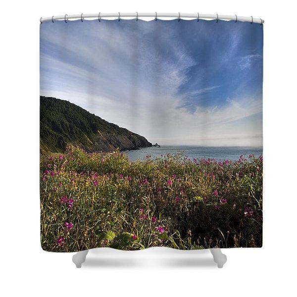 Coastal Wildflowers Of Oregon Shower Curtain