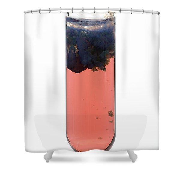 Cobalt Hydroxide Precipitate Shower Curtain