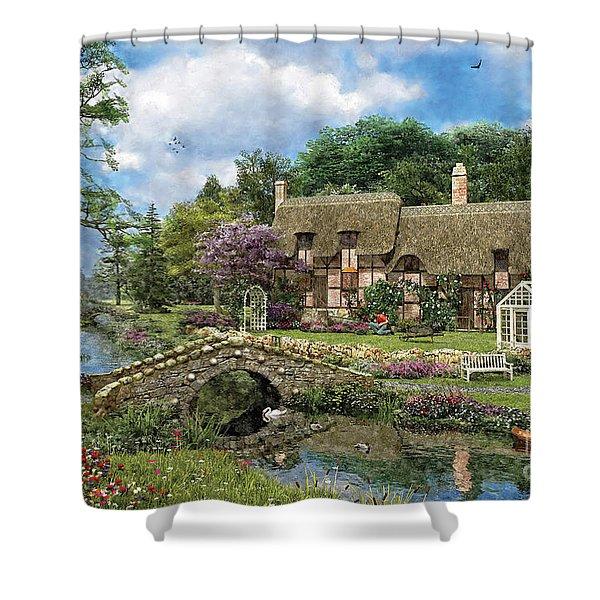Cobble Walk Cottage Shower Curtain