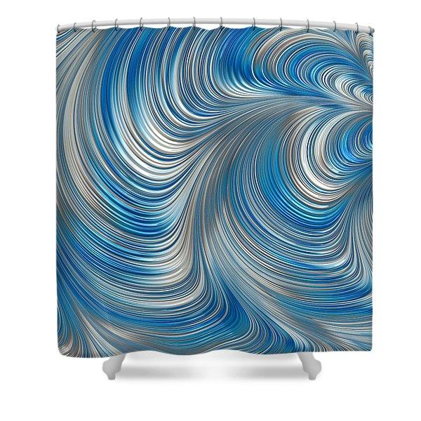 Cobolt Flow Shower Curtain
