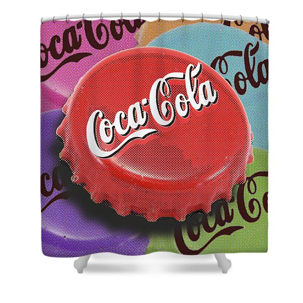 Coca-cola Cap Shower Curtain