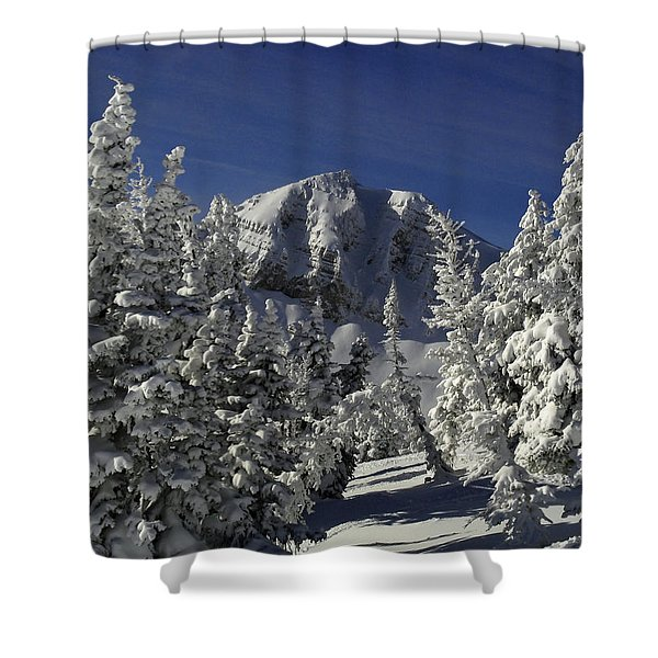 Cody Peak After A Snow Shower Curtain