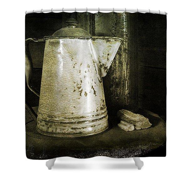 Little Coffee House On The Prairie Shower Curtain
