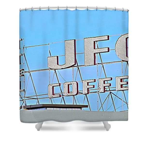 Coffee Sign Shower Curtain