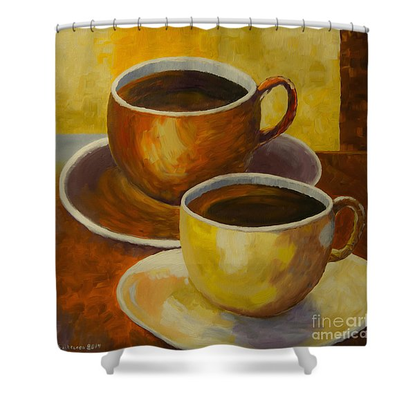 Coffee Time Shower Curtain