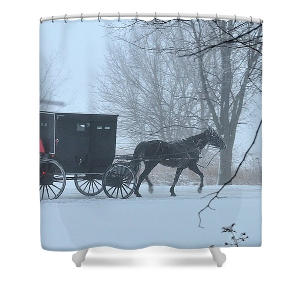 Cold Amish Morning Shower Curtain