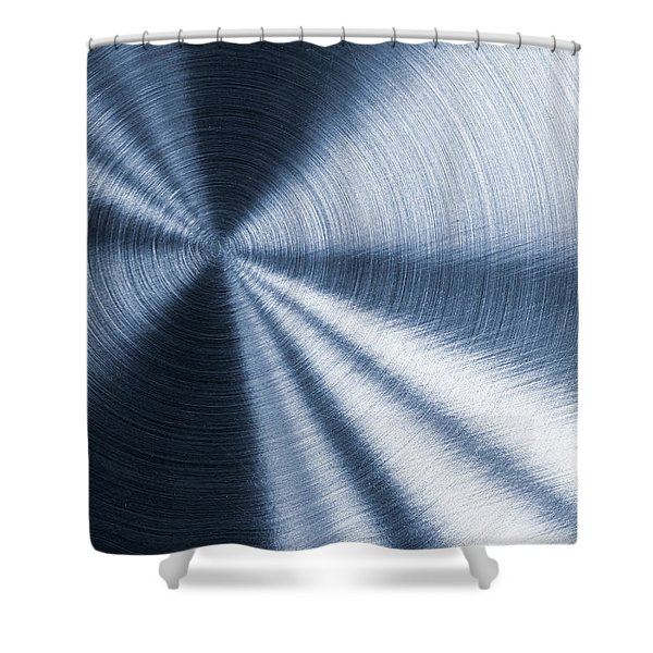 Cold Blue Metallic Texture Shower Curtain