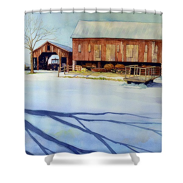 Cold Harvest Shower Curtain
