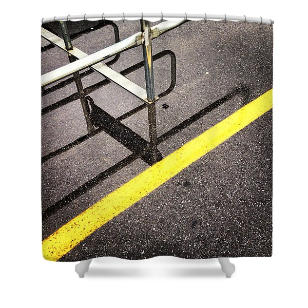Cold Morning Shopping Shower Curtain