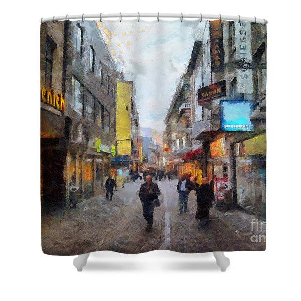 Cologne Stroll Shower Curtain