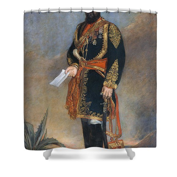 Colonel Probyn Cb Vc Honorary Adc Shower Curtain