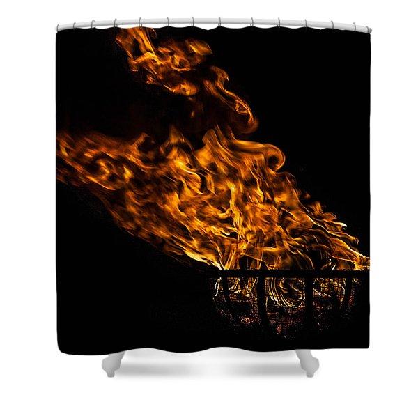 Fire Cresset Shower Curtain