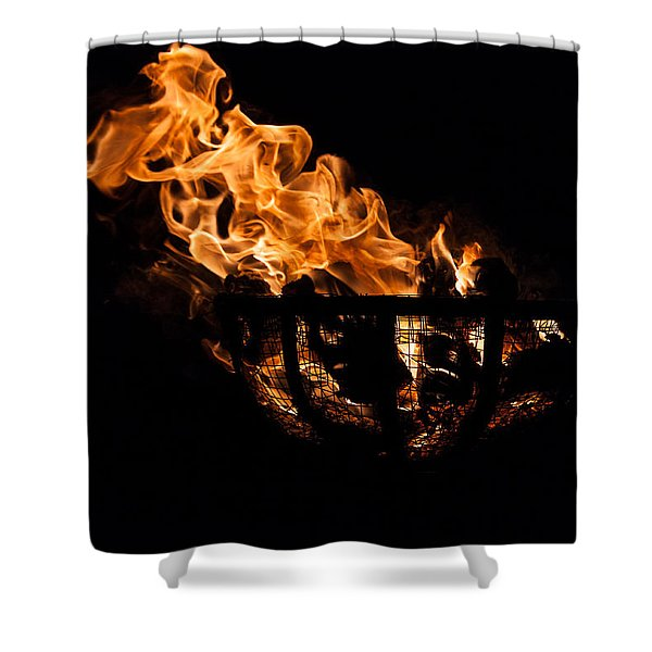 Fire Cresset Two Shower Curtain