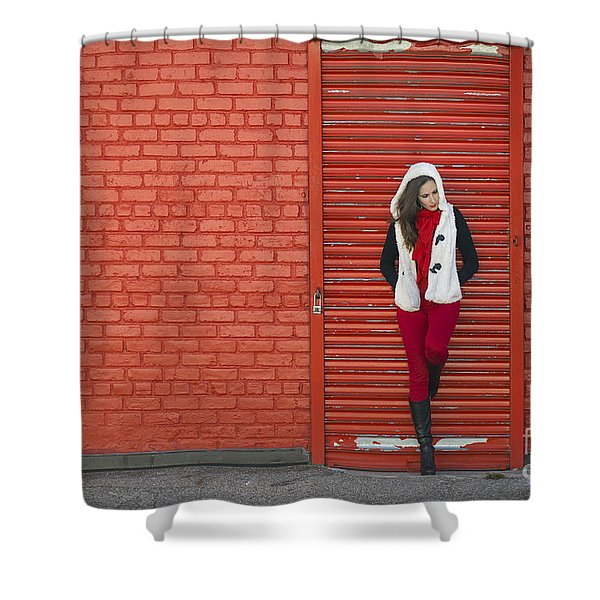 Color Me Red Shower Curtain