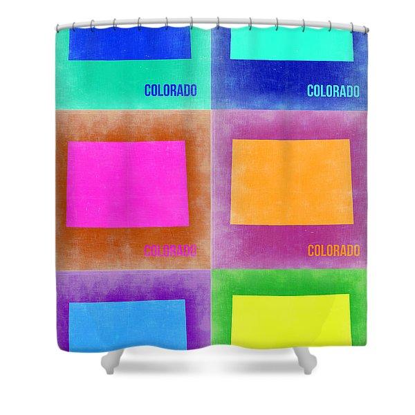 Colorado Pop Art Map 3 Shower Curtain