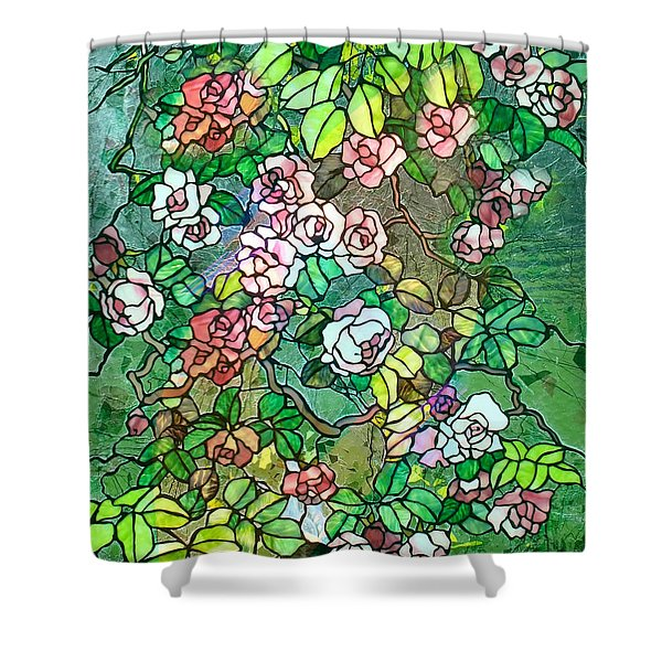 Colored Rose Garden Shower Curtain