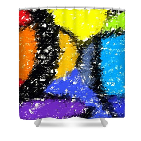 Colorful Abstract 3 Shower Curtain
