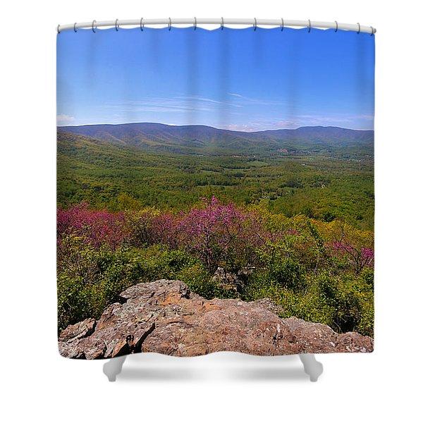 Colorful Blue Ridge Spring Shower Curtain