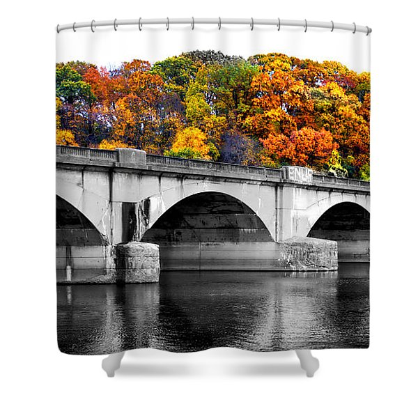 Colorful Bridge Shower Curtain