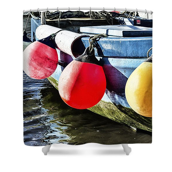 Colorful At Mousehole Shower Curtain