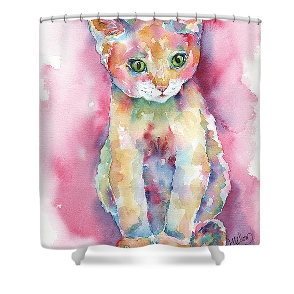 Colorful Kitten Shower Curtain