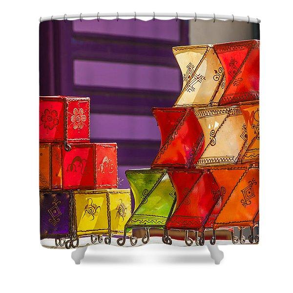 Colorful Lanterns Shower Curtain