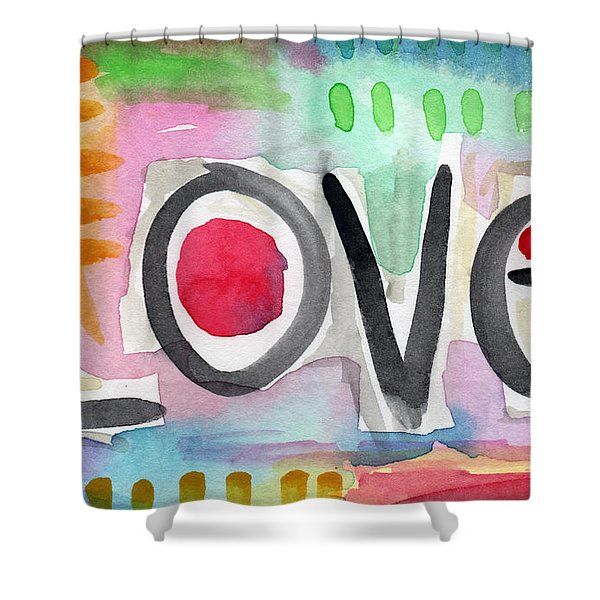 Colorful Love- Painting Shower Curtain