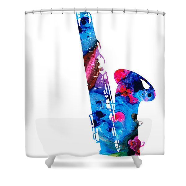 Colorful Saxophone 2 By Sharon Cummings Shower Curtain