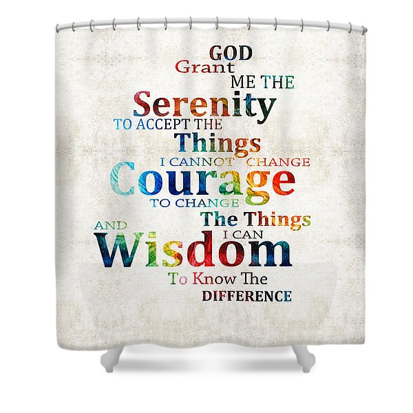 Colorful Serenity Prayer By Sharon Cummings Shower Curtain
