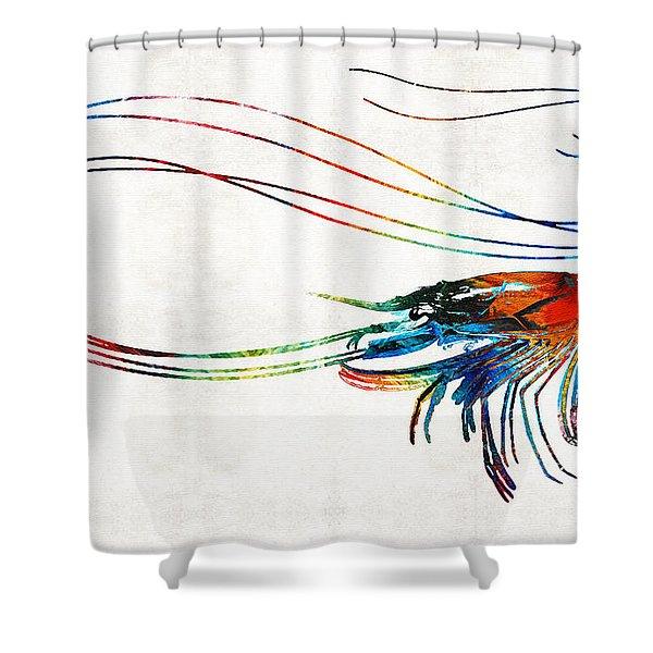 Colorful Shrimp Art By Sharon Cummings Shower Curtain