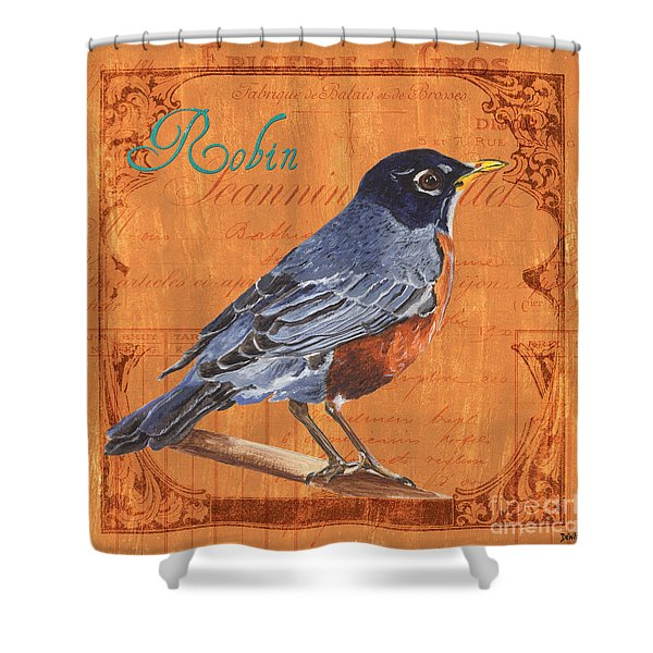 Colorful Songbirds 2 Shower Curtain