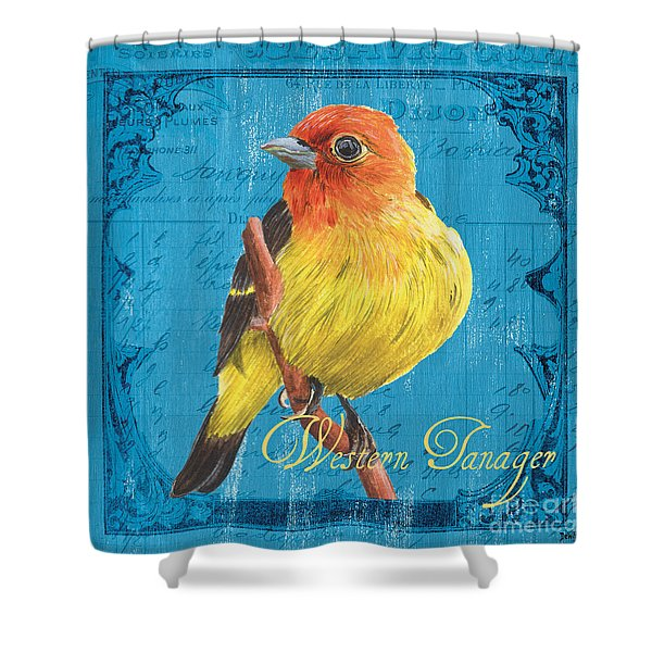 Colorful Songbirds 4 Shower Curtain