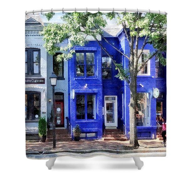 Alexandria Va - Colorful Street Shower Curtain