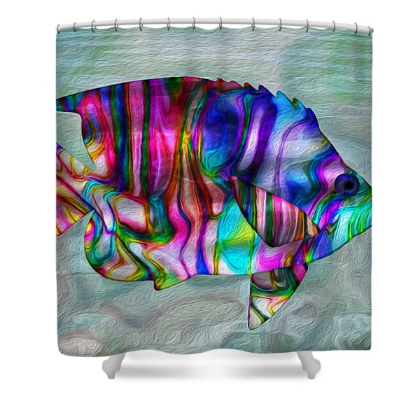 Colorful Tropical Fish Shower Curtain