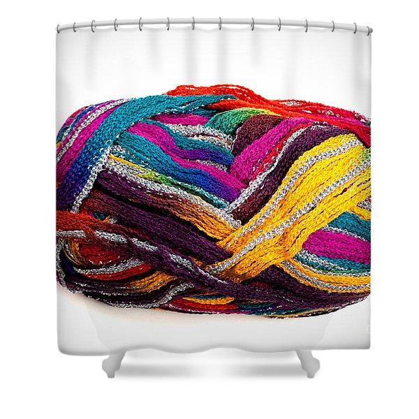 Colorful Yarn Shower Curtain
