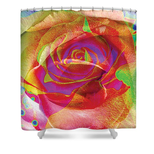 Colorfull Rose Shower Curtain