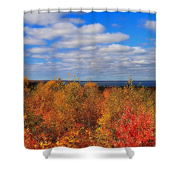 Colors Above Lake Superior Shower Curtain