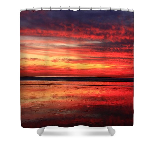 Encinitas Twilight Tide Shower Curtain